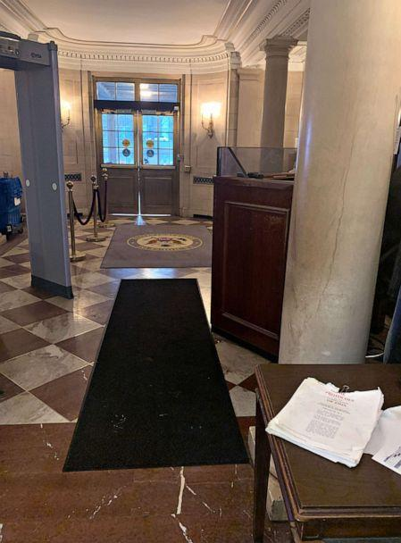 PHOTO: 'The Protocols of the Learned Elders of Zion' sits at a table inside the Longworth House Office building. (Courtesy Zach Fisch)