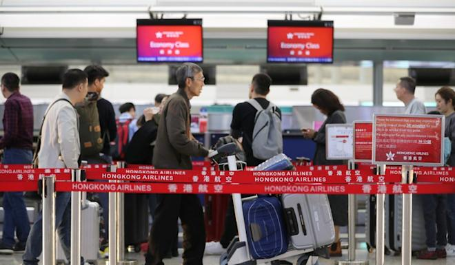 Hundreds of thousands of bookings with Hong Kong Airlines were in jeopardy when the airline was just days away from losing its licence. Photo: Edward Wong
