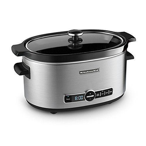 """<p><strong>KitchenAid</strong></p><p>amazon.com</p><p><strong>$84.99</strong></p><p><a href=""""https://www.amazon.com/dp/B005MMNBDO?tag=syn-yahoo-20&ascsubtag=%5Bartid%7C10050.g.35997285%5Bsrc%7Cyahoo-us"""" rel=""""nofollow noopener"""" target=""""_blank"""" data-ylk=""""slk:SHOP NOW"""" class=""""link rapid-noclick-resp"""">SHOP NOW</a></p><p>Whether you want to make a hearty veggie chili or short ribs, KitchenAid's slow cooker is the gift that keeps on giving. Trust. </p>"""