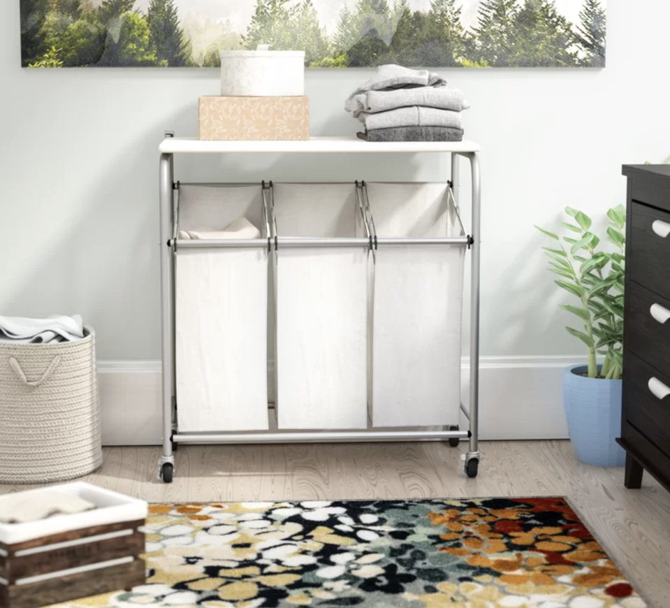 Keep your laundry effortlessly organized. (Photo: Wayfair)