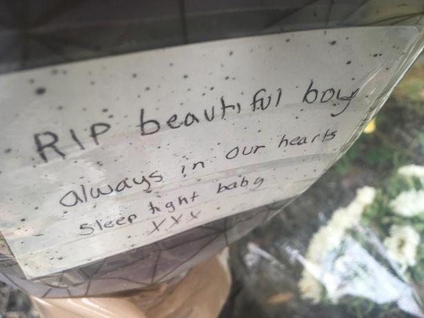 A tribute left for Malakye. (Reach)