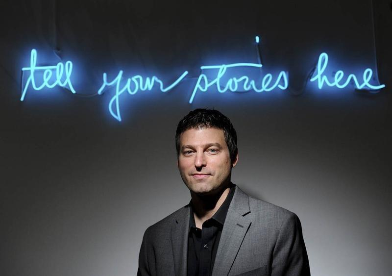 Adam Bain, Twitter's president of global revenue, stands in a conference room at his company's San Francisco headquarters