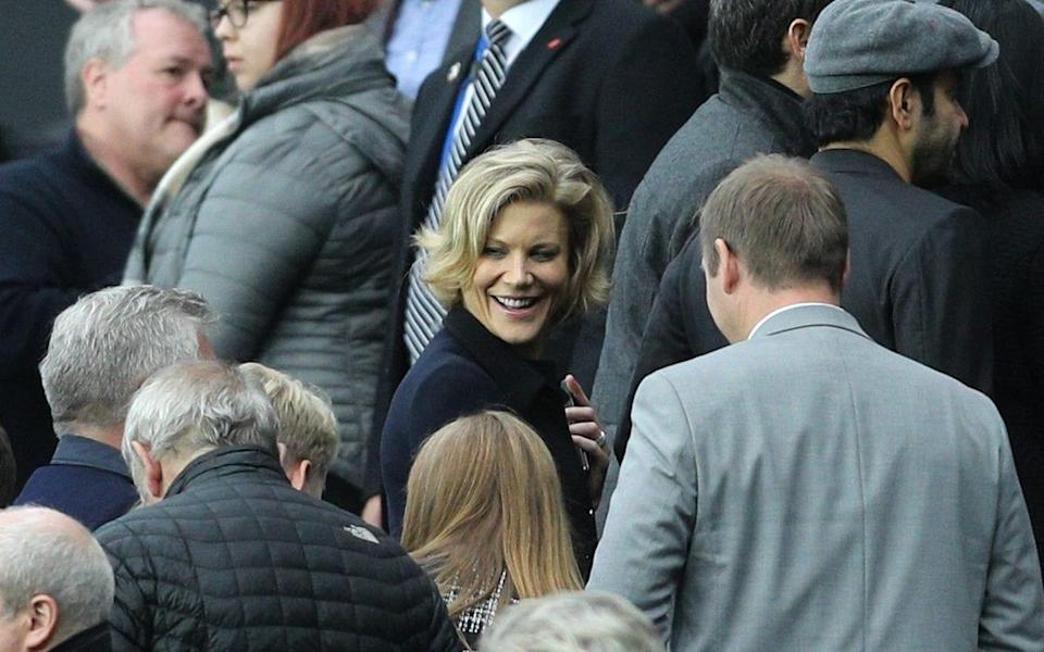 Businesswoman Amanda Staveley in the stands during the Premier League match at St James' Park - PA