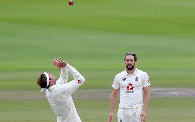Stuart Broad takes the catch to dismiss Shai Hope - AFP