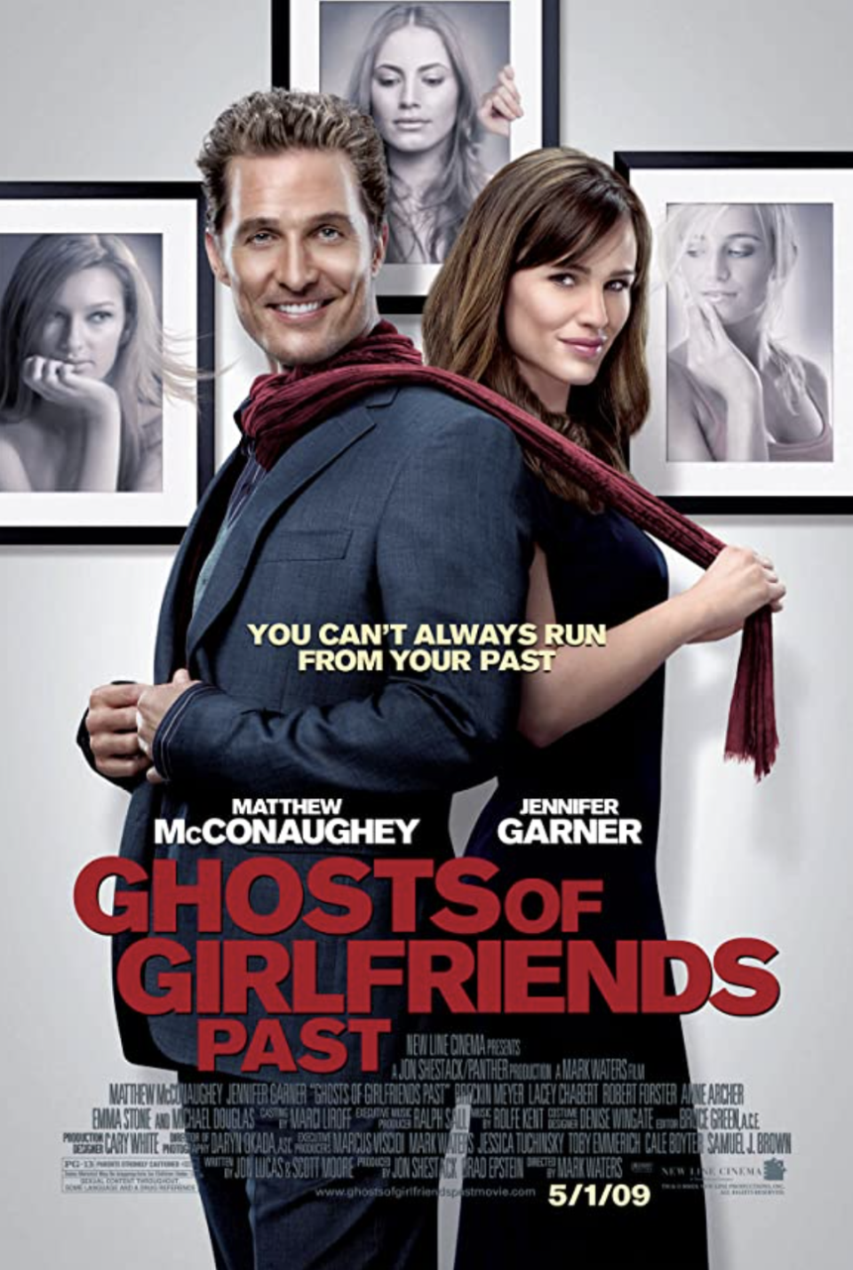 "<p>In this<em> Christmas Carol</em> adaptation, Matthew McConaughey's playboy character is visited by the ghosts of his relationships gone wrong. The hope is that he'll finally learn the true meaning of love. Then, and only then, can he try to make things work with his childhood sweetheart, played by Jennifer Garner.</p><p><a class=""link rapid-noclick-resp"" href=""https://www.netflix.com/search?q=Ghosts+of+Girlfriends+Past&jbv=70101700"" rel=""nofollow noopener"" target=""_blank"" data-ylk=""slk:STREAM NOW"">STREAM NOW</a></p>"