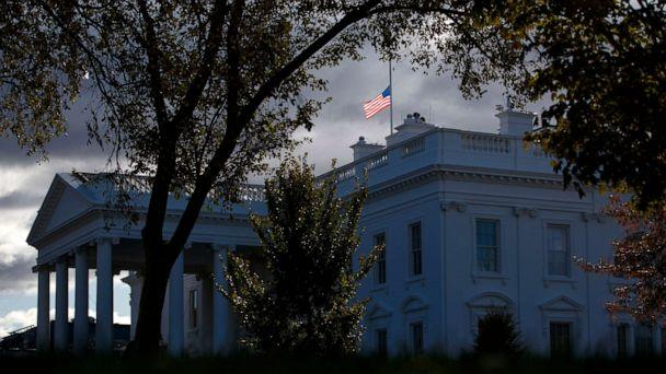 PHOTO: The flag above the White House flies at half-staff honoring Rep. Elijah Cummings, who passed away, Oct. 17, 2019. (Evan Vucci/AP)
