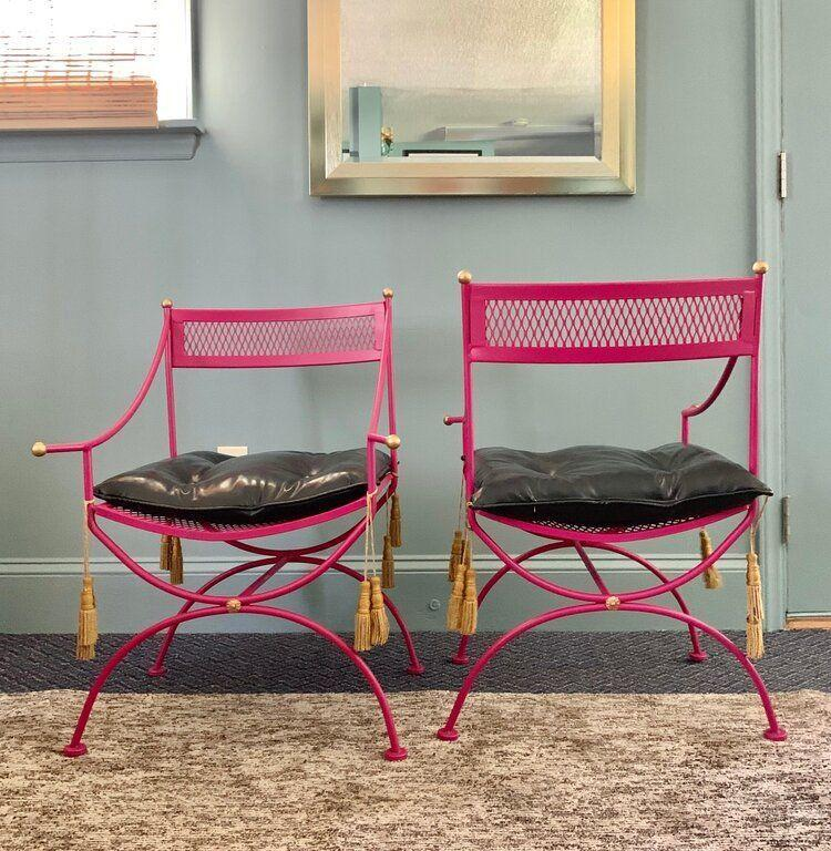 "<p>dressingroomsinteriorsstudio.com</p><p><strong>$425.00</strong></p><p><a href=""https://www.dressingroomsinteriorsstudio.com/shoponline/vintage-metal-thinline-chairs-pair"" rel=""nofollow noopener"" target=""_blank"" data-ylk=""slk:Shop Now"" class=""link rapid-noclick-resp"">Shop Now</a></p><p>Find one-of-a kind vintage pieces at this Charlotte-based boutique.</p>"