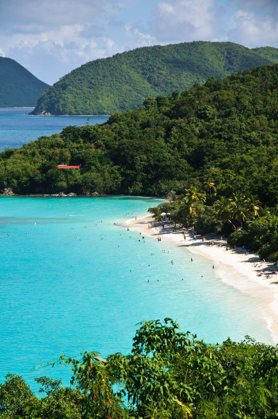 <p>Less bustling than neighboring Trunk Bay but equally beautiful, Maho cements its status as one of the U.S. Virgin Islands' finest white sand beaches. The calm, relatively shallow waters are also a prime feeding ground for sea turtles and rays, making it a thrilling spot for snorkelers of all skill levels.</p>