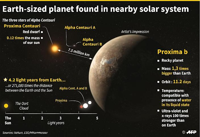 Discovery of an exoplanet near Earth (AFP Photo/Alain Bommenel)