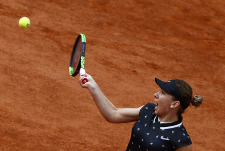 Tennis - French Open - Roland Garros, Paris, France - May 28, 2019. Romania's Simona Halep in action during her first round match against Australia's Ajla Tomljanovic. REUTERS/Kai Pfaffenbach