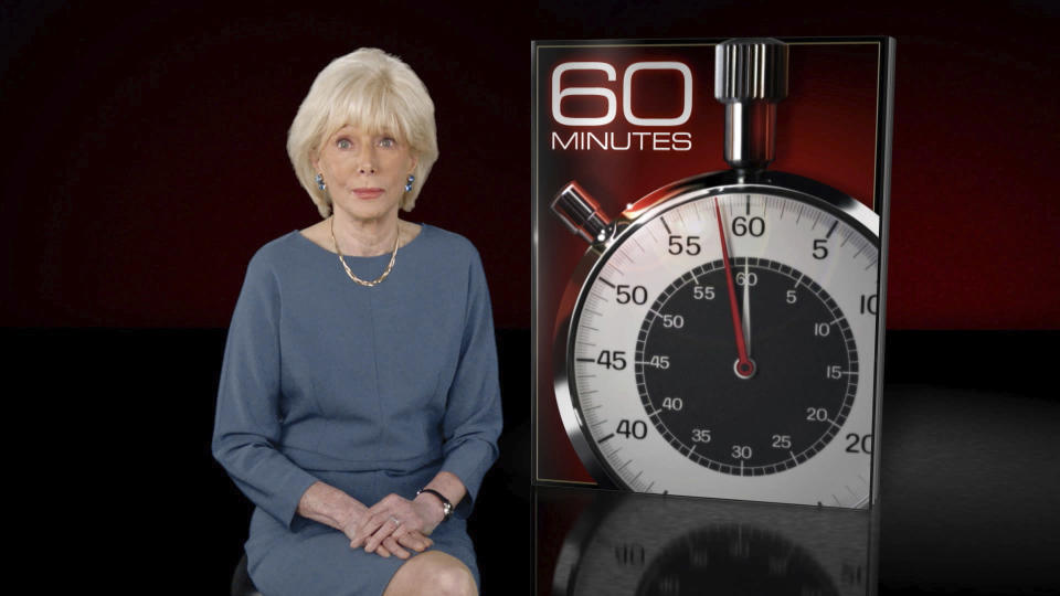 """FILE - This image released by CBS News shows """"60 Minutes"""" correspondent Lesley Stahl on the set. CBS' pioneering newsmagazine is consistently one of the most-watched programs on television and its viewership is up 9 percent over last year, the Nielsen company said. That's not only more than any other prime-time program on ABC, CBS, NBC and Fox, it's also one of only four on those networks to show a year-to-year increase. (CBS News via AP, File)"""