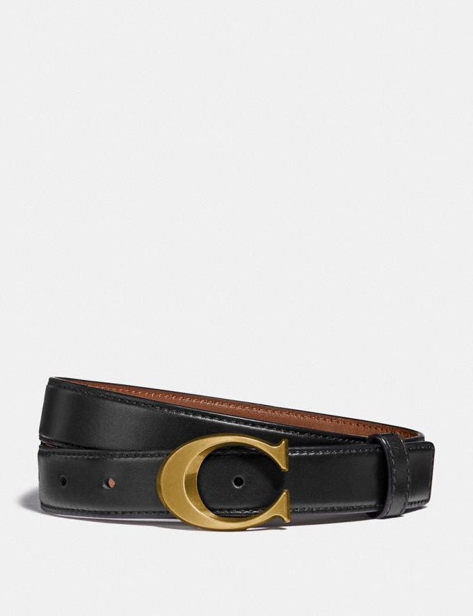 Signature Buckle Belt is on sale through Coach Outlet, $38 (originally $128).