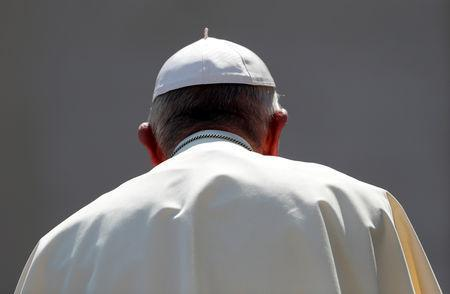 FILE PHOTO: Pope Francis leaves after the general audience in Saint Peter's square at the Vatican, August 29, 2018. REUTERS/Alessandro Bianchi/File Photo