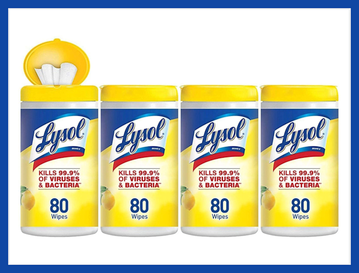 Lysol Disinfecting Wipes, Lemon & Lime Blossom (eight-pack). (Photo: Amazon)