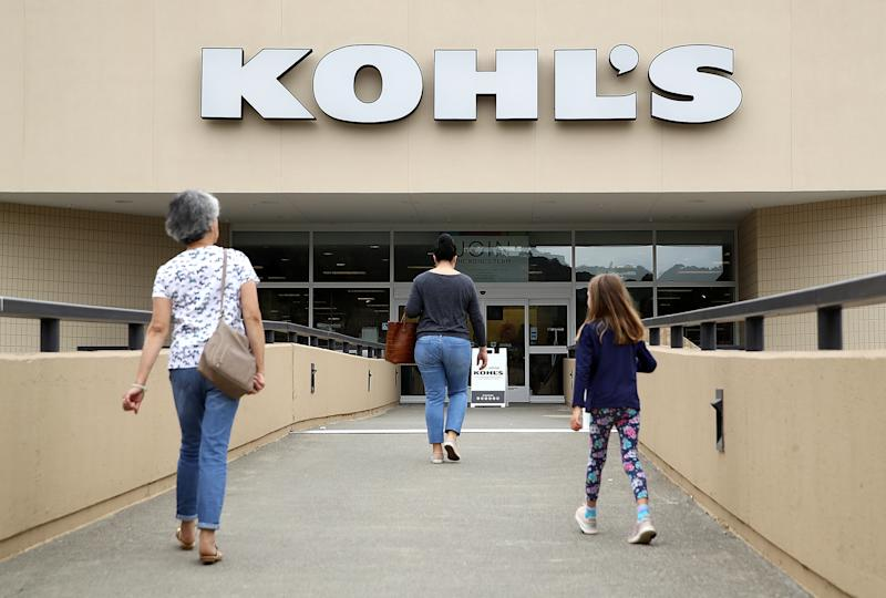 SAN RAFAEL, CA - AUGUST 21: Customers enter a Kohl's store on August 21, 2018 in San Rafael, California. Kohl's reported better than expected second quarter earnings with earnings of $292 million, or $1.76 per share. Analysts had expected $1.65 per share. (Photo by Justin Sullivan/Getty Images)