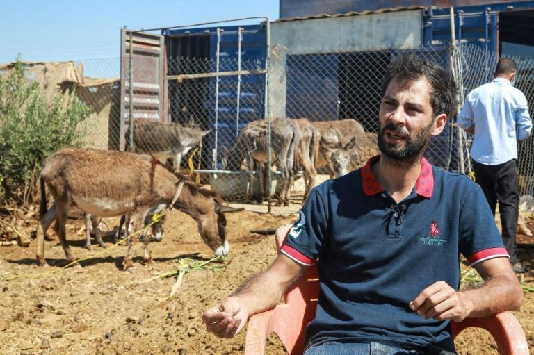 Emad Attiyat said people laughed at his donkey soap scheme at first but were quickly converted (AFP/Khalil MAZRAAWI)