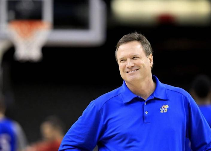 """Kansas coach Bill Self gets back to work with his returning and new players with his annual """"Boot Camp,"""" which starts Monday in the Jayhawks' practice facility."""
