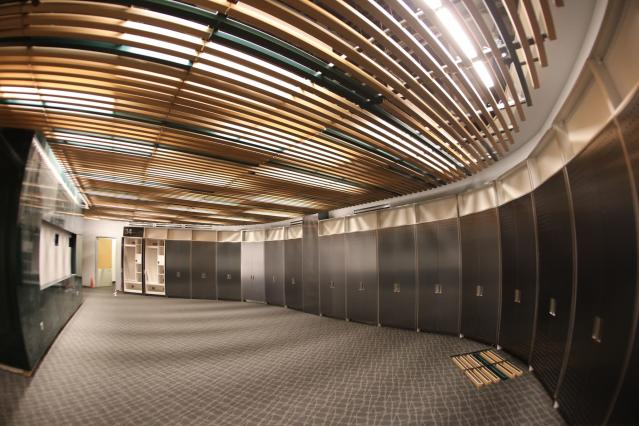 A sneak peek at the Bucks' new locker room. (Jeff Phelps/Milwaukee Bucks)
