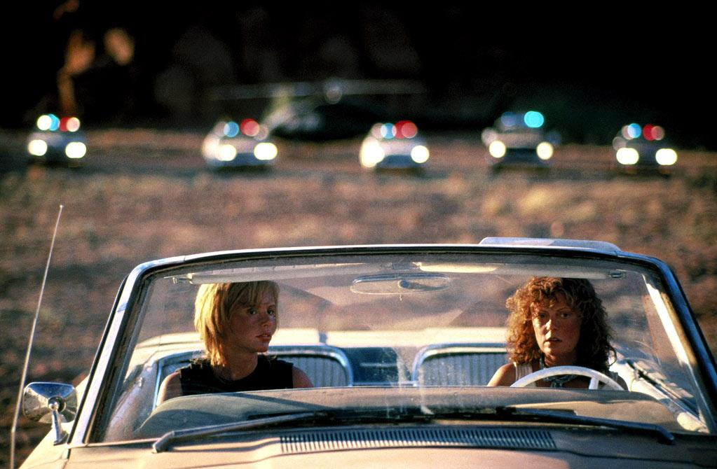"""<a href=""""http://movies.yahoo.com/movie/1800026322/info"""">THELMA AND LOUISE</a>   Starting Point: Oklahoma   Ending Point: Off a cliff   Goal: A nice two-day trip into the mountains.   Snags: A thuggish drunken cowboy, the FBI, a handsome grifter who looks just like Brad Pitt."""