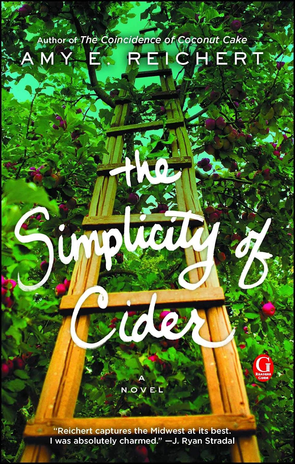 <p>Amy E. Reichert's <span><strong>The Simplicity of Cider</strong></span> pairs perfectly with the beverage in the title. Sanna Lund is great at working on her family's orchard, but she's way less capable when it comes to interacting with people. However, when a handsome man and his son arrive to work on the farm, Sanna learns how to open her heart to something besides the soothing process of making apple cider.</p>