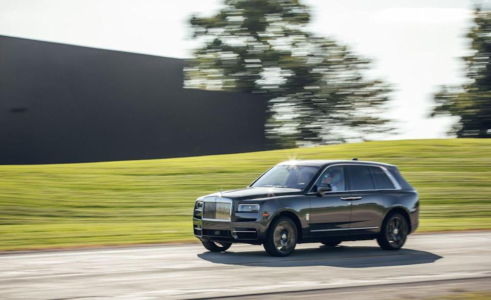 """<p>Even if the EPA qualifies it as a mid-size station wagon, Rolls-Royce's entry into the SUV market is in line with the comfort and inefficiency ratings of its other models. The vehicle's weight, and the engineering it takes to isolate you from the outside world, are what help make a <a href=""""https://www.caranddriver.com/rolls-royce/cullinan"""" rel=""""nofollow noopener"""" target=""""_blank"""" data-ylk=""""slk:Rolls-Royce Cullinan"""" class=""""link rapid-noclick-resp"""">Rolls-Royce Cullinan</a> a Cullinan. Burning so much fuel that we're getting just 14 mpg combined? Didn't notice, thanks to double-paned windows and the two floors between us and the road. Now, let's stand on the 563-hp, twin-turbo 6.7-liter V-12 and race to 60 mph in just 4.5 seconds. Thanks.</p><ul><li>Base price: $335,350</li><li>Engine: 563-hp twin-turbo 6.7-liter V-12 engine, eight-speed automatic transmission</li><li>EPA Fuel Economy: 14/12/20 mpg</li></ul><p><a class=""""link rapid-noclick-resp"""" href=""""https://www.caranddriver.com/rolls-royce/cullinan"""" rel=""""nofollow noopener"""" target=""""_blank"""" data-ylk=""""slk:MORE CULLINAN SPECS"""">MORE CULLINAN SPECS</a></p>"""