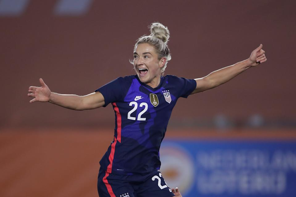 Kristie Mewis scored her first national team goal in 2,722 days on Friday and is playing her way back into the USWNT picture. (Photo by Rico Brouwer/Soccrates/Getty Images)