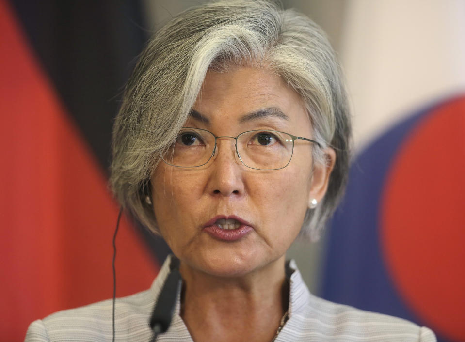 South Korea's foreign minister Kang Kyung-wha. Photo: Markus Schreiber/AP