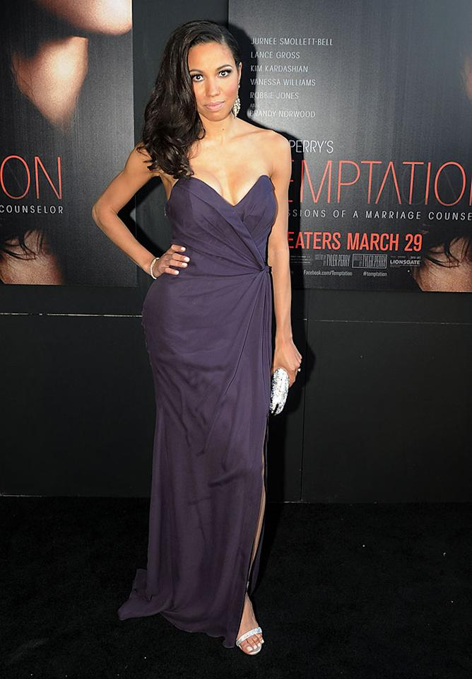 "Jurnee Smollett-Bell attends the ""Tyler Perry's Temptation: Confessions Of A Marriage Counselor"" Atlanta Screening at AMC Parkway Pointe on March 16, 2013 in Atlanta, Georgia."