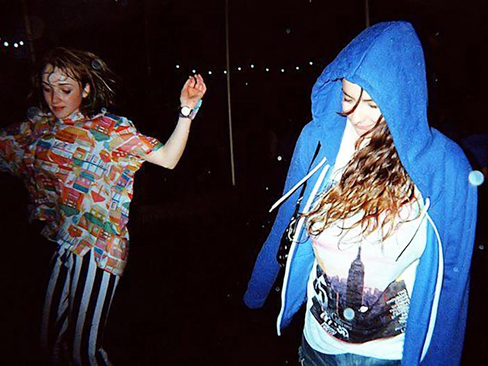 Alexandra Pollard (right) at her first V Festival in 2009 (Courtesy of author)