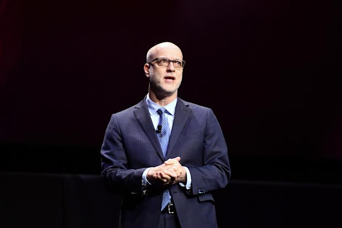 Nato President & CEO John Fithian speaks onstage at CinemaCon 2019. (Matt Winkelmeyer/Getty Images for CinemaCon)
