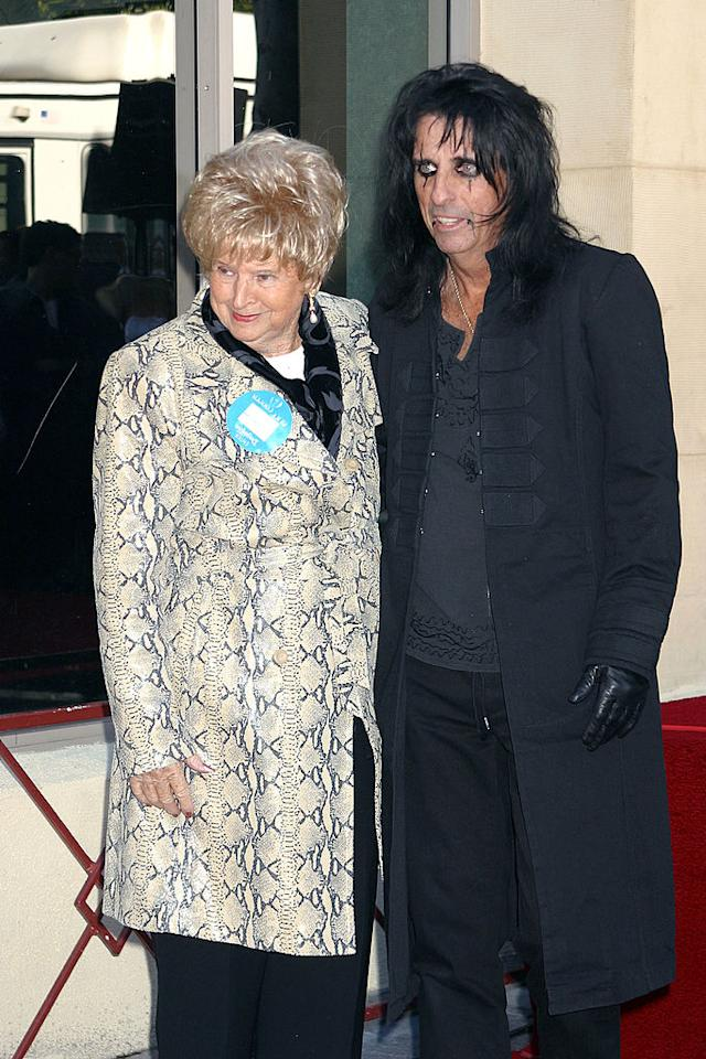 <p>Alice Cooper, with his mother, receiving his star on the Hollywood Walk of Fame in Hollywood, CA 12/02/03. </p>
