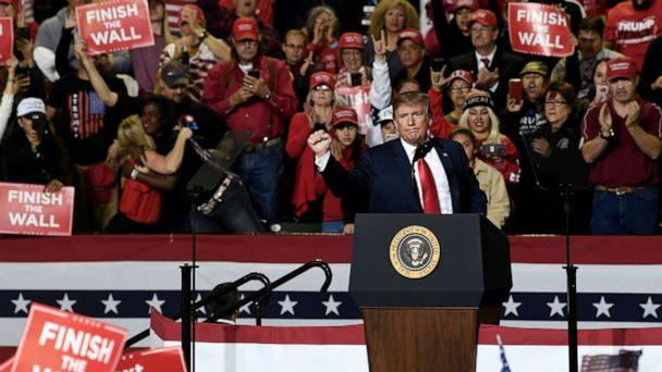 PHOTO: President Donald Trump speaks during a rally in El Paso, Texas, Feb. 11, 2019. (Susan Walsh/AP)