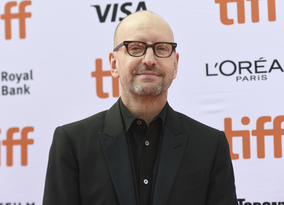 """Director Steven Soderbergh attends a premiere for """"The Laundromat"""" on day five of the Toronto International Film Festival at Princess of Wales Theatre on Monday, Sept. 9, 2019, in Toronto. (Photo by Chris Pizzello/Invision/AP)"""