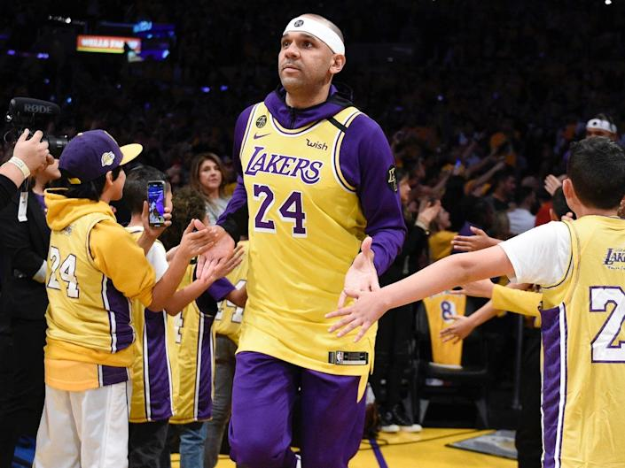 Jared Dudley and the Lakers wore Bryant jerseys on January 31.