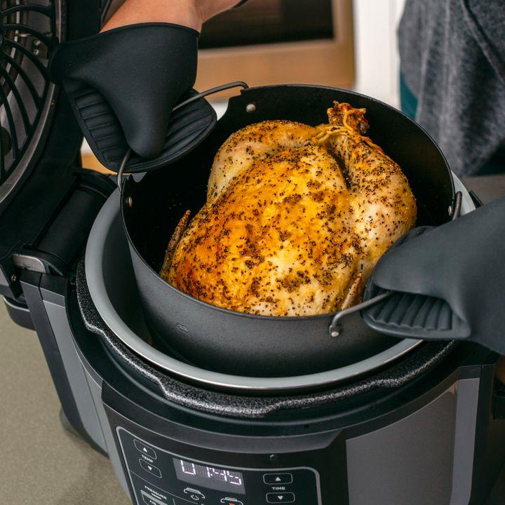 The Ninja Foodi does the work of a pressure cooker, air fryer, steamer and slow cooker all in one.Get it on sale at Walmart right now for $180.