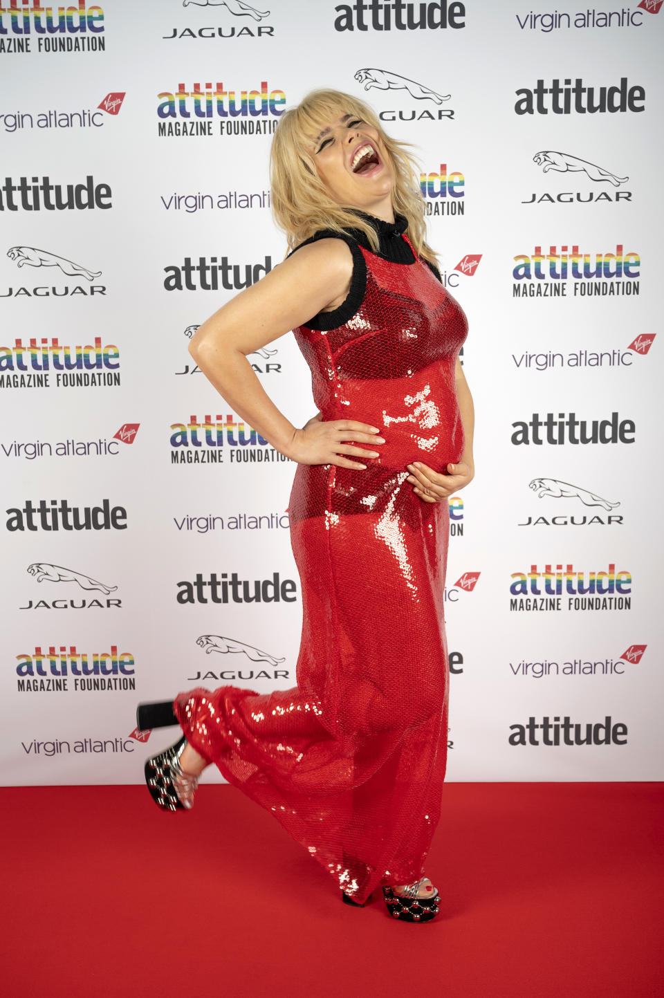 UNSPECIFIED: In this image released on December 1, 2020, Singer Paloma Faith poses on the red carpet during the Virgin Atlantic Attitude Awards Powered By Jaguar broadcast on  December 01, 2020 in London, England. (Photo by Attitude Magazine/Attitude Magazine via Getty Images)