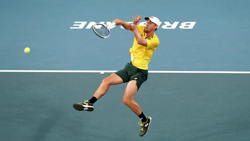 John Millman gives Australia a 1-0 lead in their ATP Cup tie against Greece in Brisbane on Tuesday