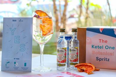 Will You Be My Bridesmaid? Cocktail Courier Kit allows brides to invite their bridesmaid crew through a signature Ketel One Botanical cocktail - The Ketel One Botanical Spritz