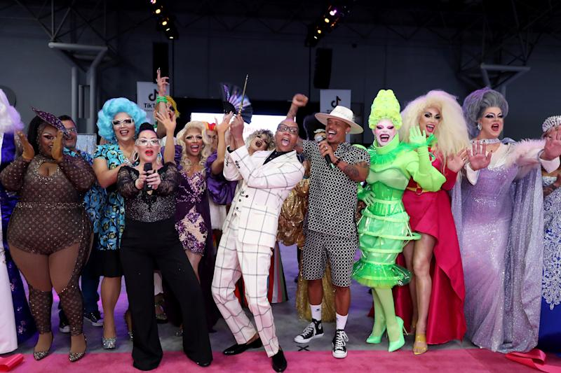 RuPaul, center, kicks off RuPaul's DragCon 2019 in New York City. (Photo: Jennifer Graylock/Graylock.com)