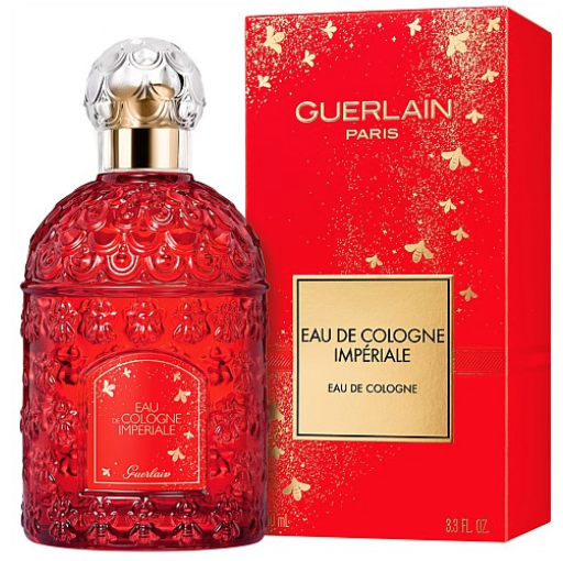 The perfume bottle and red box for Eau De Cologne Impériale 100ml Lunar New Year Edition