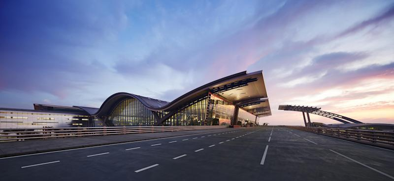 This undated image released by the New Doha International Airport (NDIA) shows an empty main terminal building of the Hamad International Airport which was supposed to open Monday, April 1, 2013, in Doha, Qatar. The chief overseer of Qatar's new international airport said in a statement Monday, just hours before the scheduled inaugural flight, that the opening of the facility has been delayed because of the need to address new safety requirements. (AP Photo/NDIA)