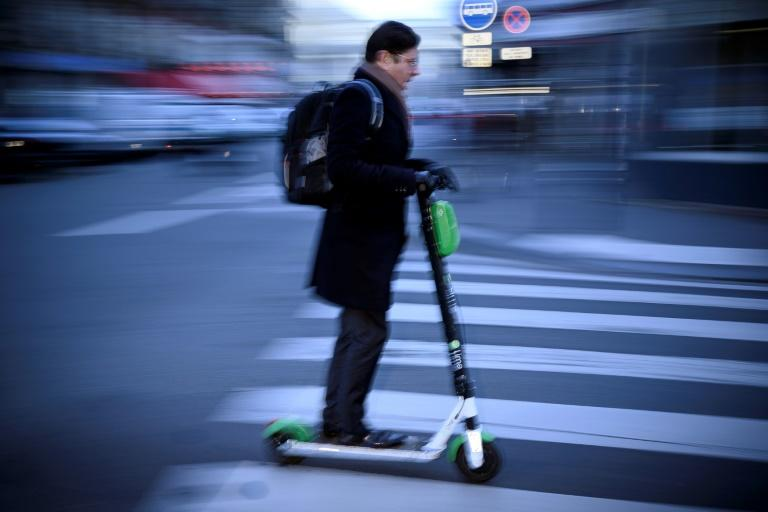 Transport company Lime reported a 75 percent rise in electric scooter rentals in Paris over the strike period, with as many as 120,000 users on days of mass protest when rail transport was especially disrupted (AFP Photo/Lionel BONAVENTURE)