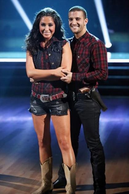 Bristol Palin and Mark Ballas pose during Week 2 of 'Dancing with the Stars: All-Stars,' Oct. 1, 2012 -- ABC