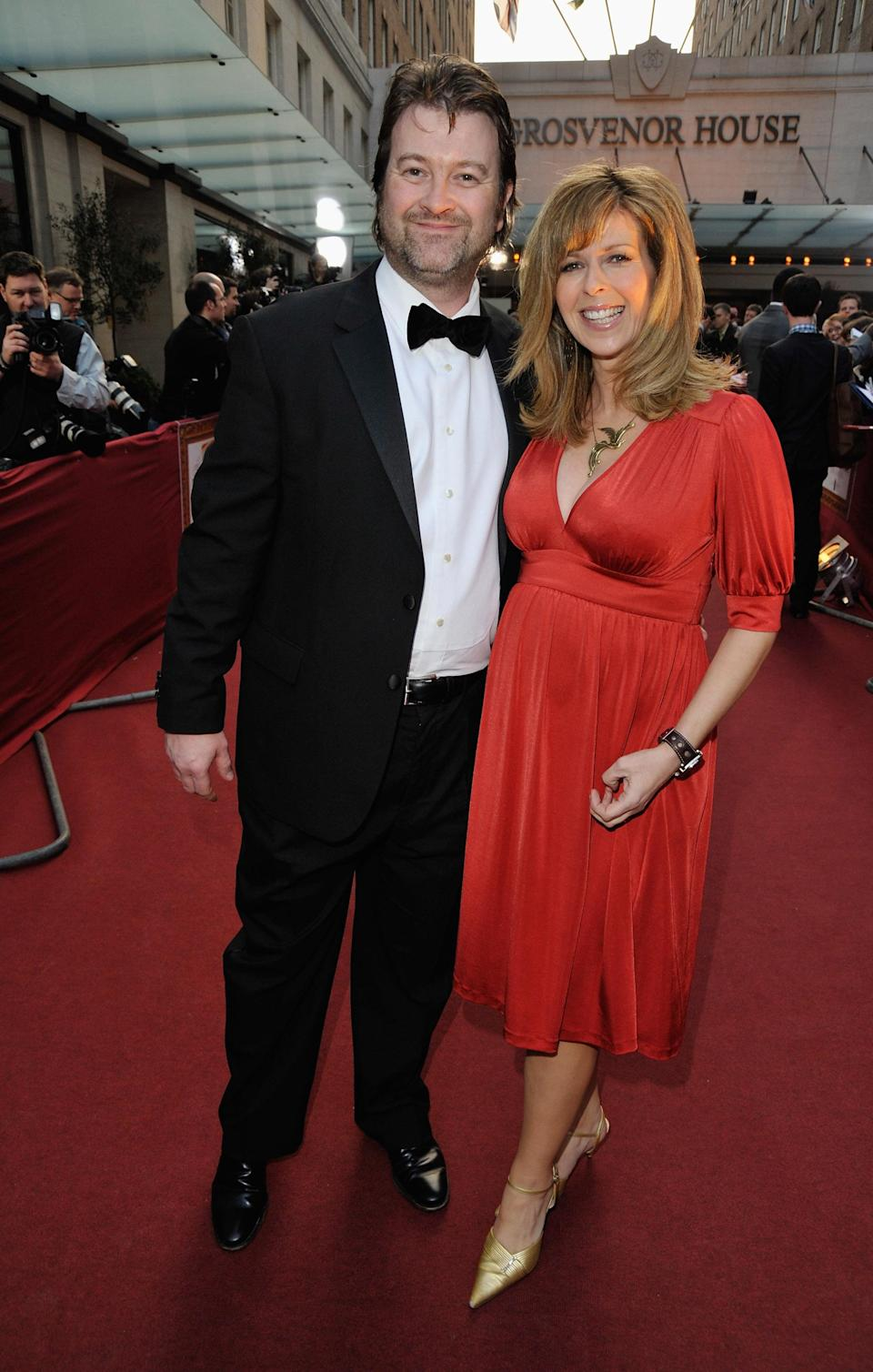 TV Presenter Kate Garraway and husband Derek Draper arrives at the Galaxy British Book Awards at Grosvenor House on April 3, 2009 in London, England. (Photo by Jon Furniss/WireImage)