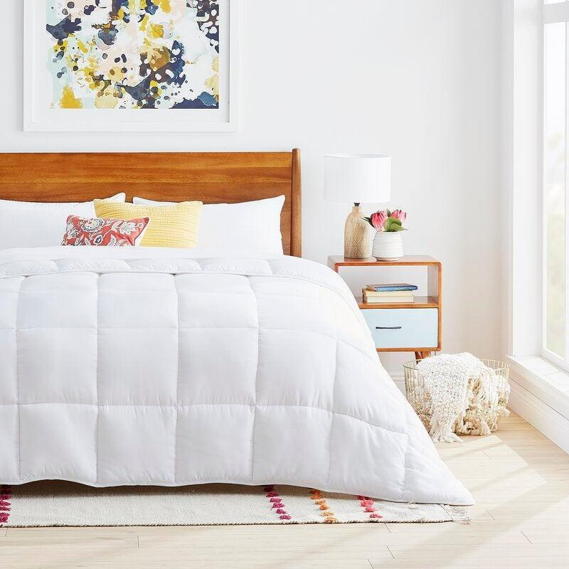 """<br><br><strong>The Twillery Co.</strong> Microfiber Down Alternative Comforter, $, available at <a href=""""https://go.skimresources.com/?id=30283X879131&url=https%3A%2F%2Fwww.wayfair.com%2Fbed-bath%2Fpdp%2Fthe-twillery-co-microfiber-down-alternative-comforter-chmb1691.html"""" rel=""""nofollow noopener"""" target=""""_blank"""" data-ylk=""""slk:Wayfair"""" class=""""link rapid-noclick-resp"""">Wayfair</a>"""