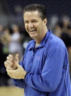 John Calipari guided Kentucky to the Final Four this past season. (AP)