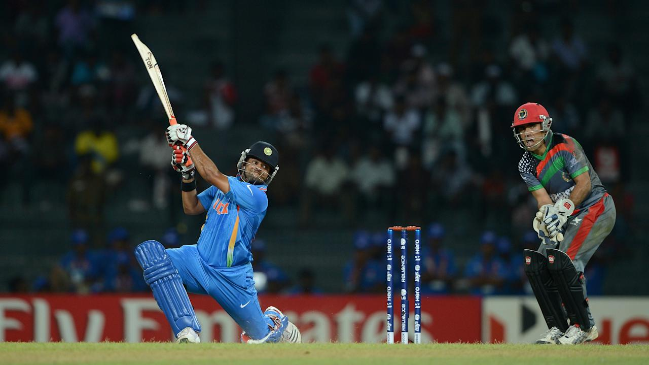 COLOMBO, SRI LANKA - SEPTEMBER 19:  Suresh Raina of India bats during the  ICC World Twenty20 2012: Group A match between India and Afghanistan at R. Premadasa Stadium on September 19, 2012 in Colombo, Sri Lanka.  (Photo by Gareth Copley/Getty Images,)