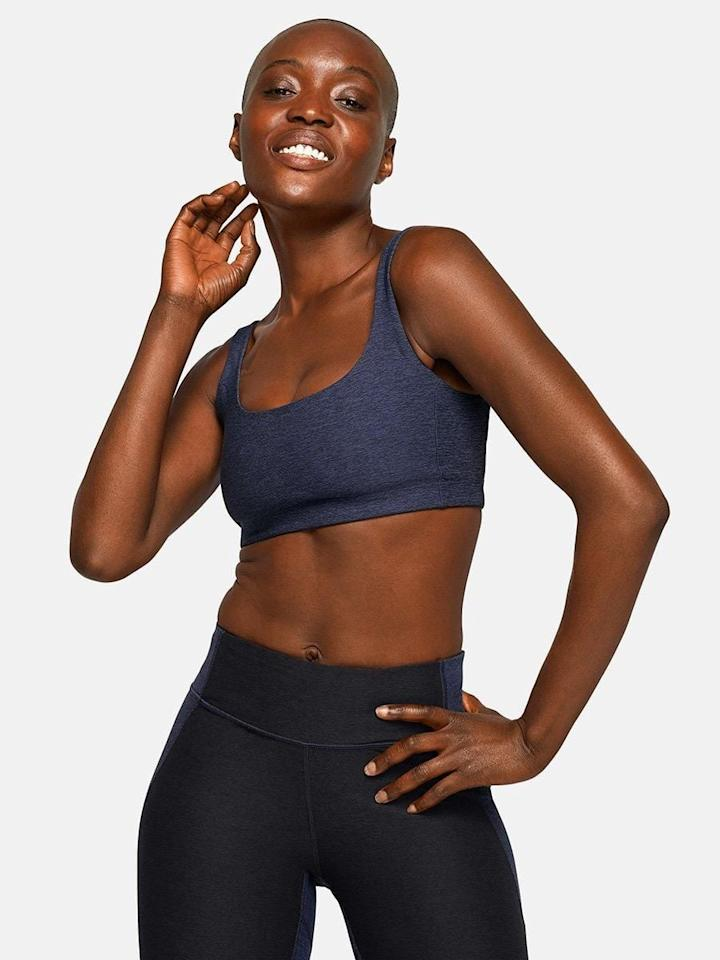 "<p>This sleek, supportive <product href=""https://www.outdoorvoices.com/products/double-time-bra?variant=17901327109"" target=""_blank"" class=""ga-track"" data-ga-category=""Related"" data-ga-label=""https://www.outdoorvoices.com/products/double-time-bra?variant=17901327109"" data-ga-action=""In-Line Links"">Outdoor Voices Double-Time Bra</product> ($45) is a game-changer.</p>"