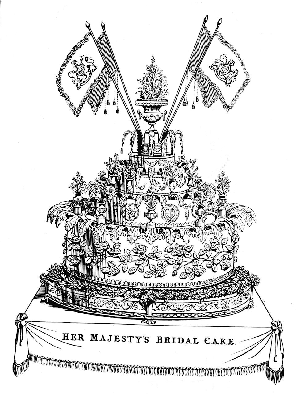 <p>Victoria commissioned multiple wedding cakes – including this one, which weighed nearly 300lbs and reportedly was a whopping nine-feet wide. <em>[Photo: Getty]</em> </p>