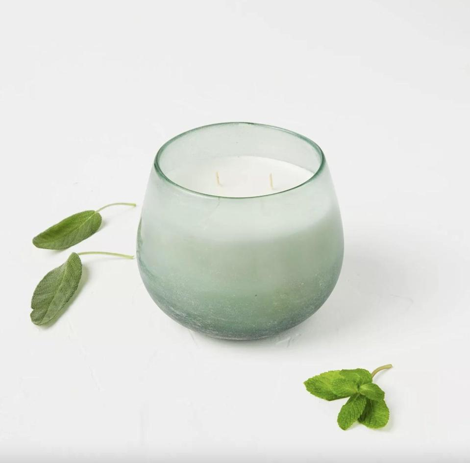 <p>This <span>Casaluna Glass Jar 4-Wick Serenity Candle</span> ($25) can be used for aromatherapy as it may help to promote serenity.</p>